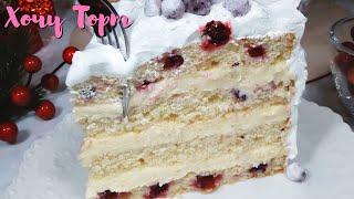 Очень вкусный крем для прослойки любого бисквитного торта Заварной крем с шоколадом Хочу ТОРТ