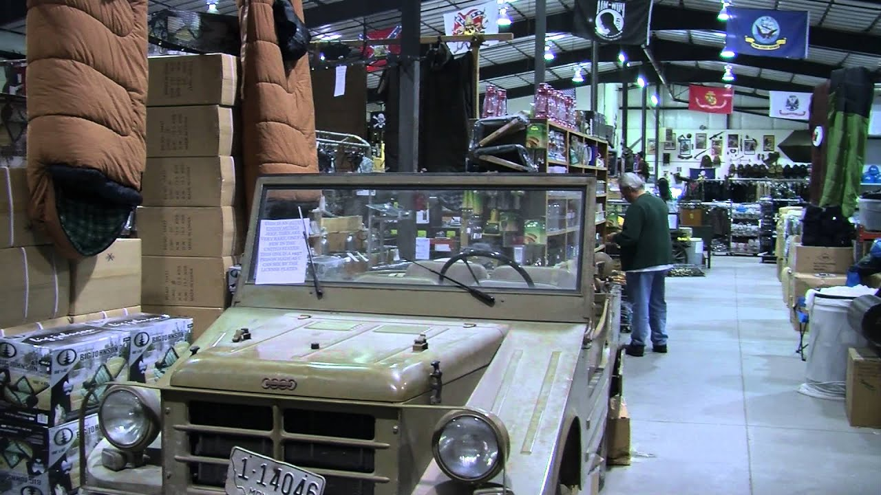 Warehouses Full of Military Surplus a Testament to Products' Continued  Benefits