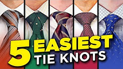 5 EASY Tie Knots ALL Men NEED To Know (2020 Edition!)