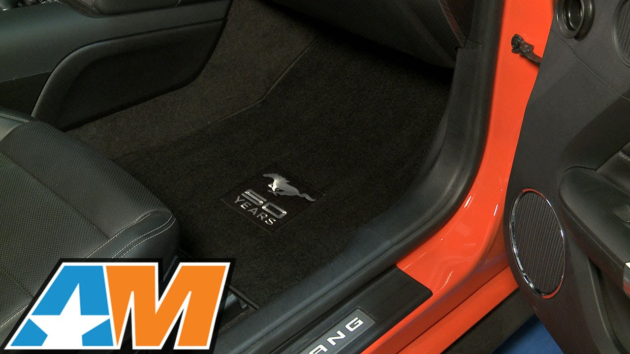 Rubber floor mats with mustang logo - 2015 2017 Mustang Lloyd Black Floor Mats Front And Rear Set 50th Anniversary Logo Review