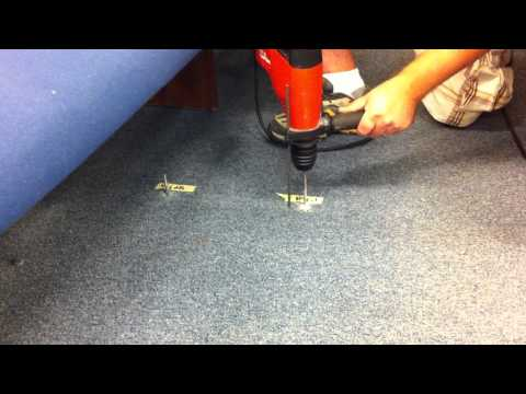 drilling-hole-for-anchoring-pew/-bench-to-concrete-floor-part-1