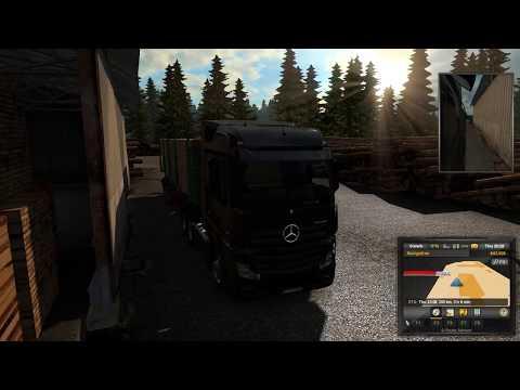 Euro Truck Simulator 2 Debut: (2 Shifts) - To Brussels & Hamburg (Delivering Lumber & Large Tubes)