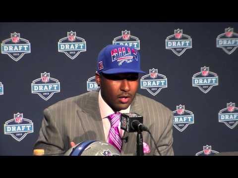 EJ Manuel Buffalo Bills Interview - NFL Draft 1st Rd Pick QB