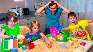 Video e giochi per bambini con Cinque Bambini