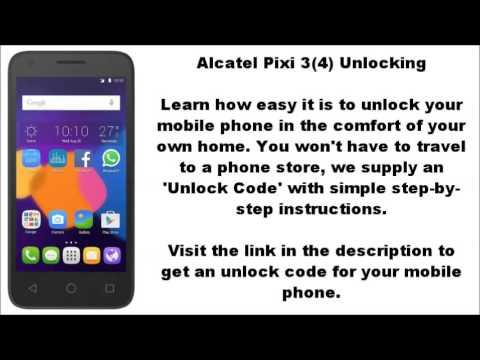 unlock alcatel pixi 3 4 4003 4003a 4003d 4003g 4003x ot 4003 by rh youtube com