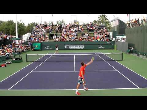Roger Federer Practice 2014 BNP Paribas Open Part 2
