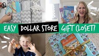 ORGANIZED GIFT CLOSET | Online Dollar Store Shopping & Haul (feat. Hollar)