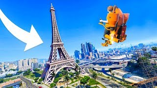 FLYING TO THE HIDDEN GTA 6 MAP! (NEVER SEEN BEFORE) - GTA 5 Funny Moments