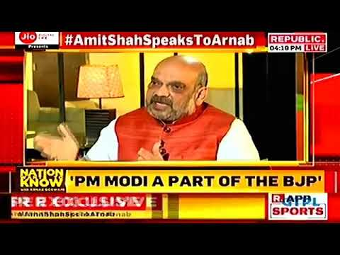 Frankly speaking with Amit Shah's - Full Interview | Arnab goswami Exclusive Full Interview