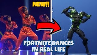 FORTNITE DANCES IN REAL LIFE ( 2018 LEAKED NEW DANCES VIVACIOUS HITCHHIKER , BREAKDOWN AND MORE !)