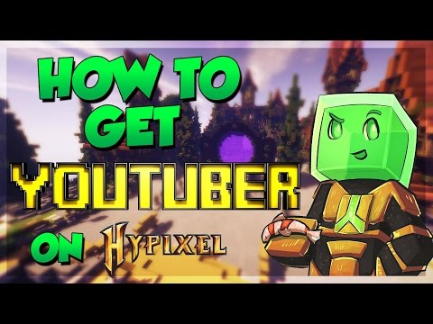 How to get YouTuber rank on Hypixel!