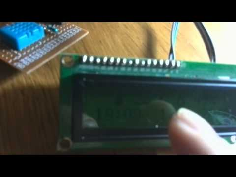 Arduino datalogger with i2c lcd and rtc and DHT11.