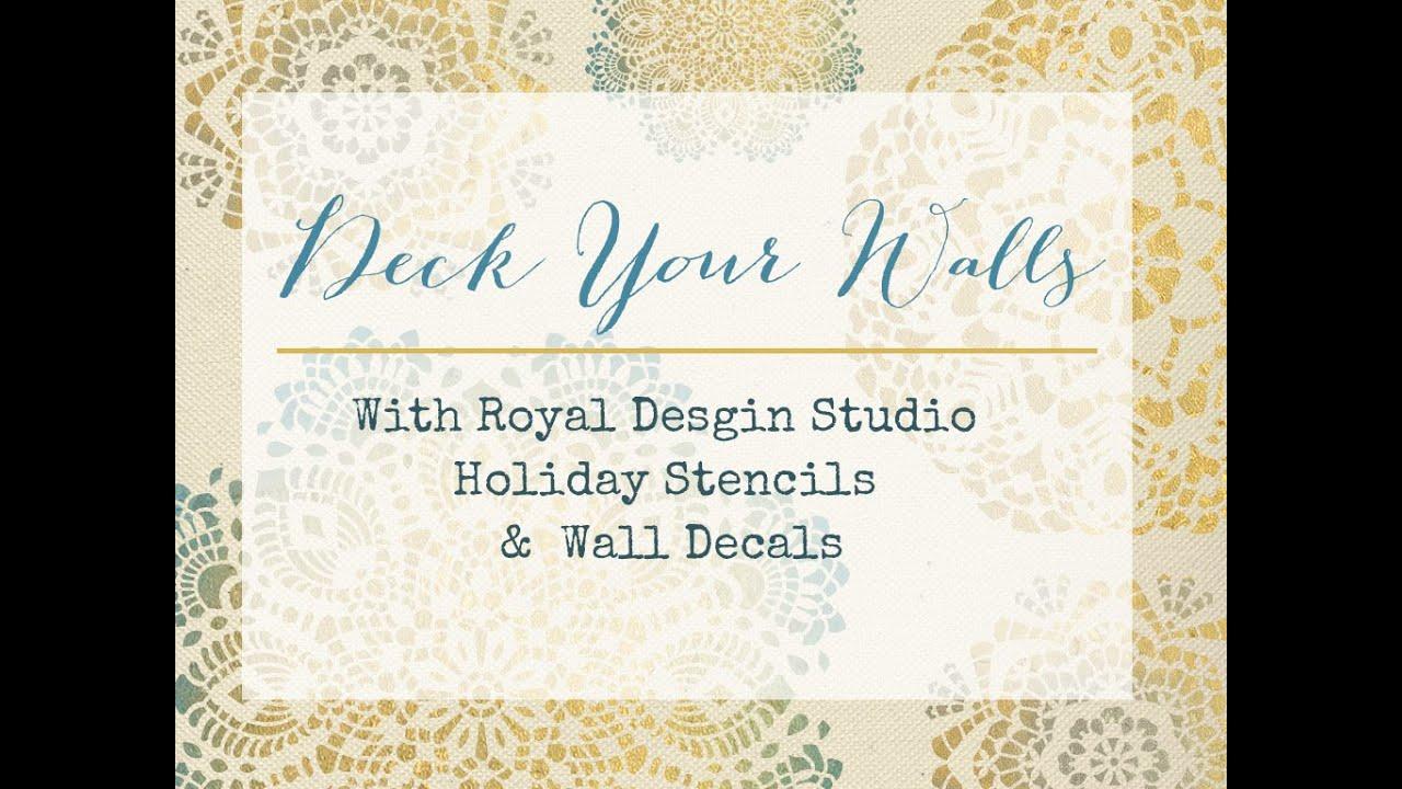 Christmas stencils amp wall decals royal design studio youtube