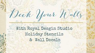 Christmas Stencils & Wall Decals - Royal Design Studio Thumbnail
