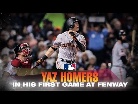 Kelly Brown - Mike Yastrzemski homers in his 1st game at Fenway!