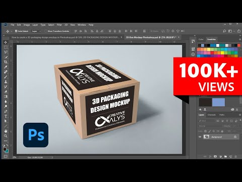 How to Create 3D Packaging Design Mockup in Photoshop | Tutorial
