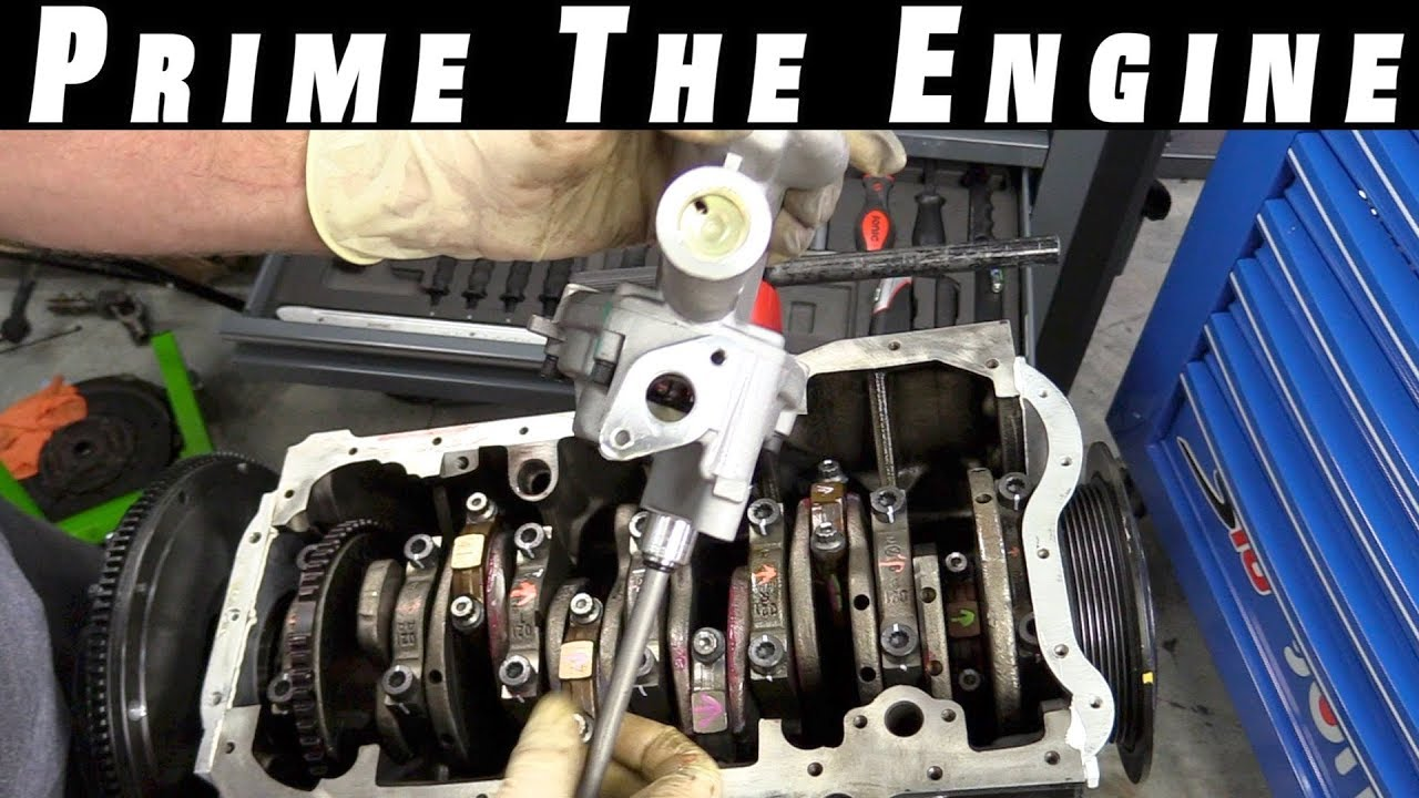 how to prime an engine and oil pump [ 1280 x 720 Pixel ]