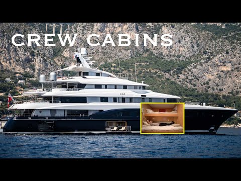 Living In The Bow Of A Super Yacht | Crew Cabins