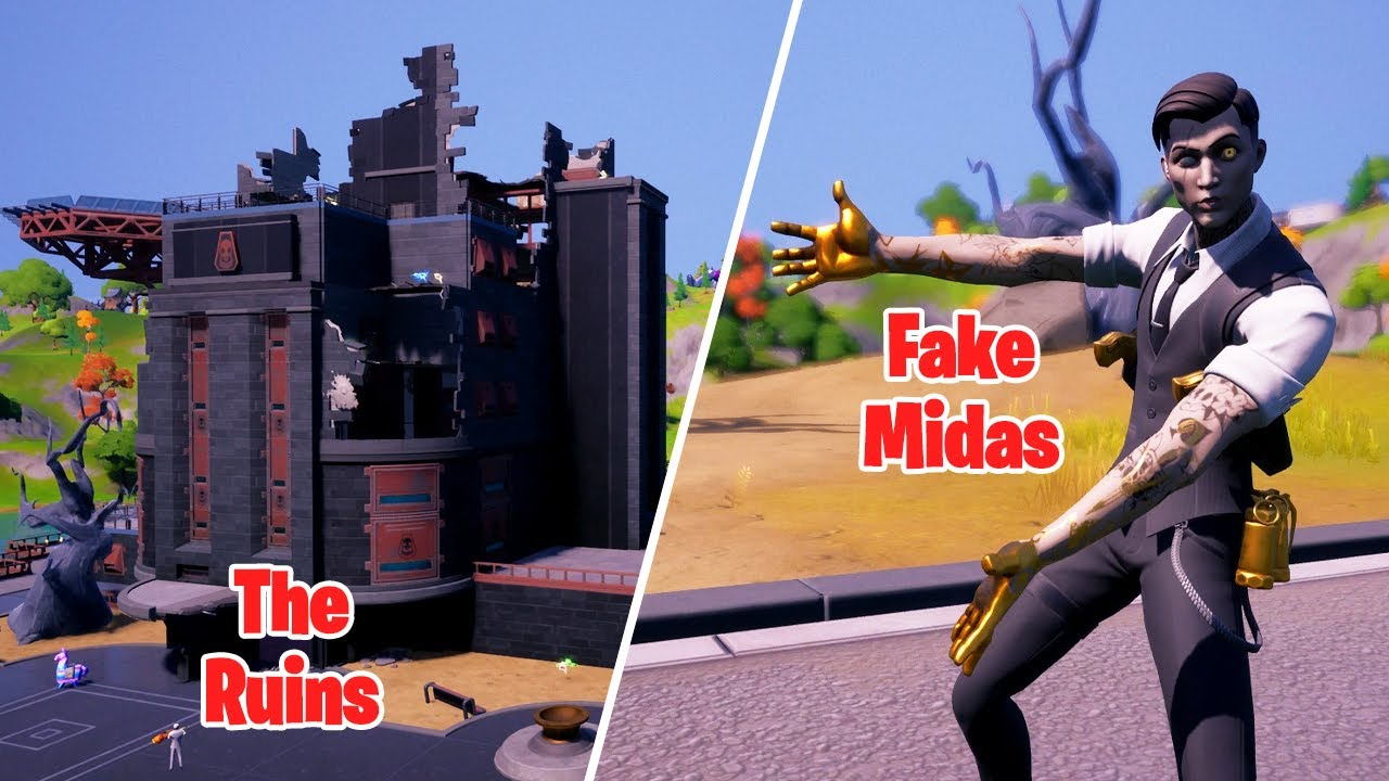 Fake Midas Takes Over The Ruins in Fortnite!