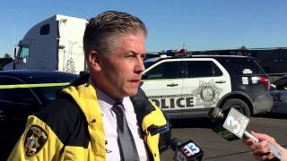 Homicide briefing on body found burned and dismembered in east Las Vegas
