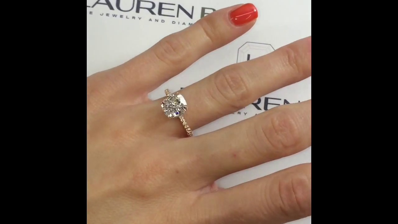 2 5 ct Cushion Cut Diamond Engagement Ring