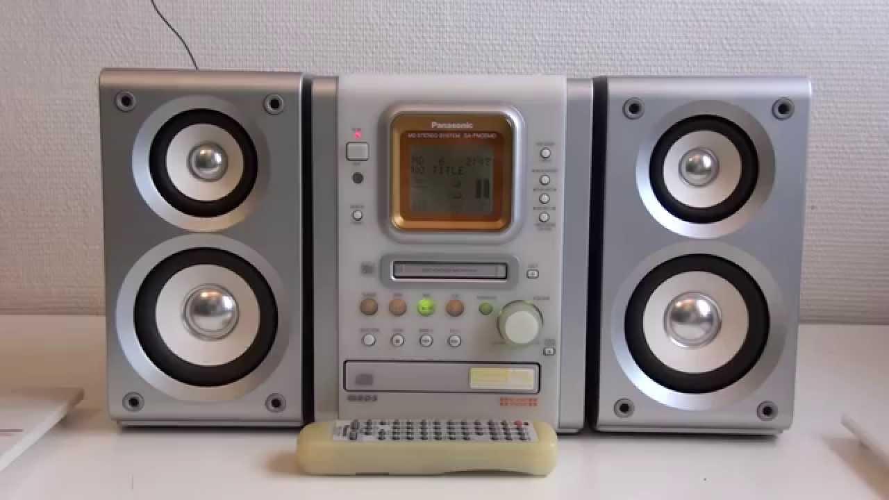 Panasonic Sa-pm35md Md Stereo System