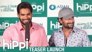 Hippi Teaser Launch   Karthikeya   Nani   Digangana Suryavanshi   TN Krishna   V Creations