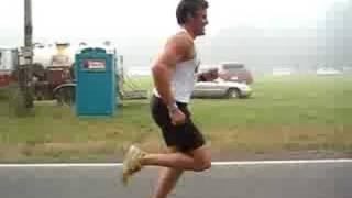 Paul running in the fog