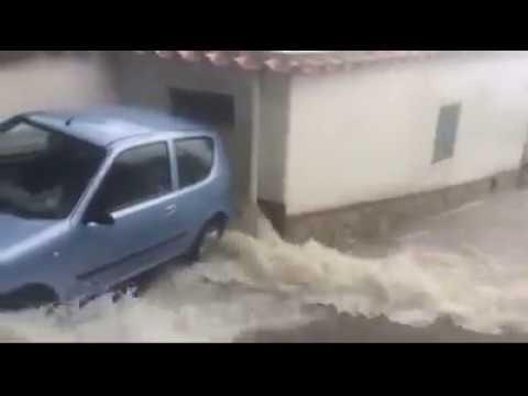 Pioggia e temporale strade allagate ad Anacapri: 7 settembre 2017
