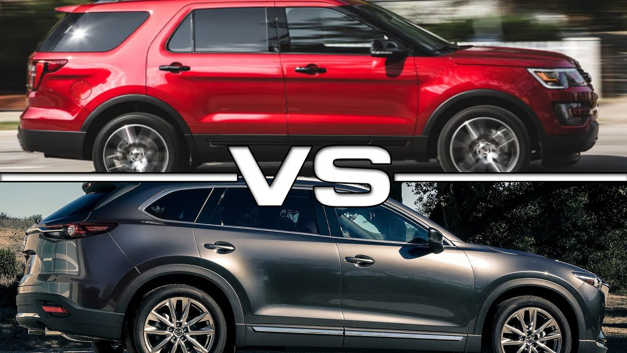 Ford Explorer vs Mazda CX-9 - YouTube