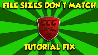 CCG [File sizes don' t match] - FIX!