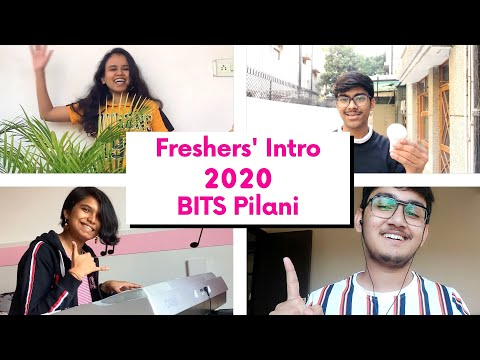 Freshers' 2020 Introduction BITS Pilani