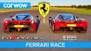 Ferrari Enzo Vs Laferrari Race Brake Test Youtube