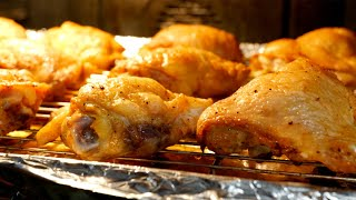 How to make Juicy Crispy Oven Baked Chicken Recipe  Views on the road Chicken