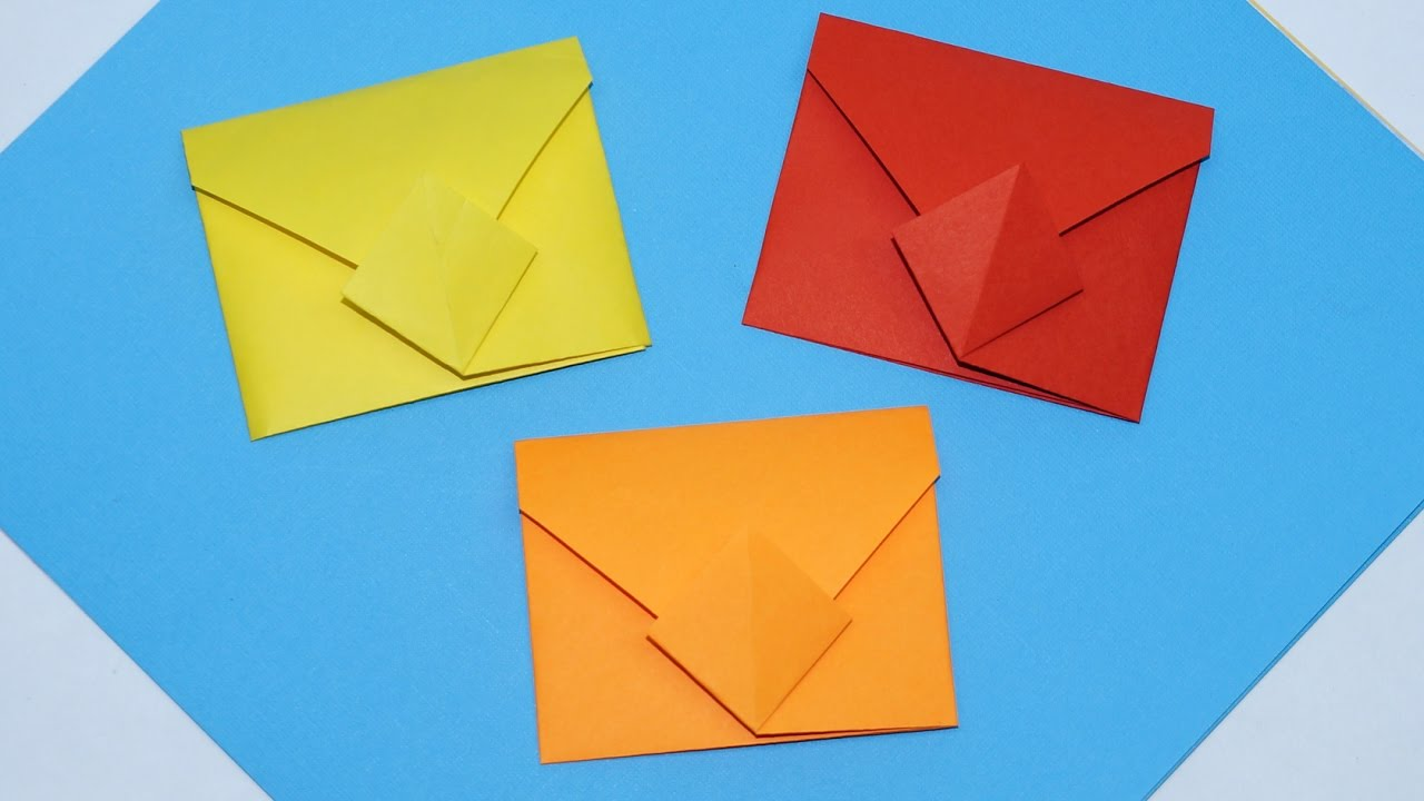 diy easy origami envelope tutorial how to make envelope
