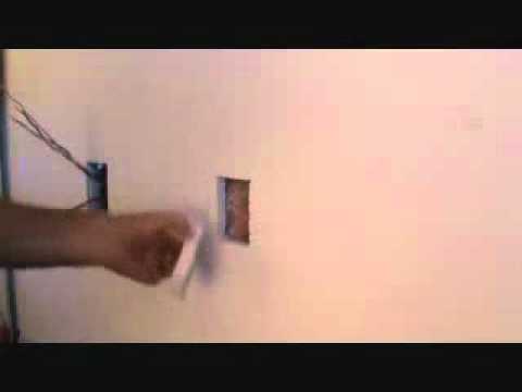 how to cut sheetrock for outlets