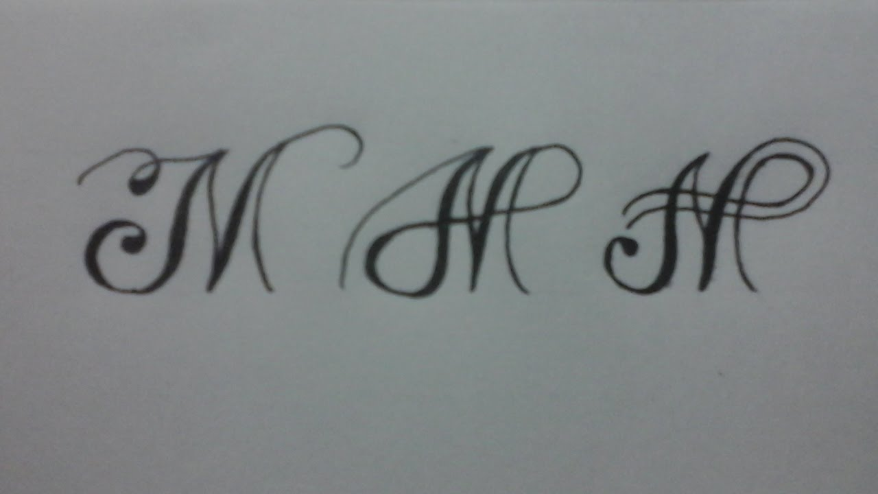 Calligraphy Letter M With Normal Pen Youtube