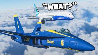Escorting Random Planes in Flight Simulator 2020 Multiplayer
