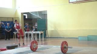 Тяжёлая атлетика Вадим Потёмкин, 15 лет, вк 50.  Толчок   70 кг