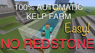 Minecraft - AUTO KELP FARM - No Observers, Pistons, or Redstone! - PlayStation 4 Edition