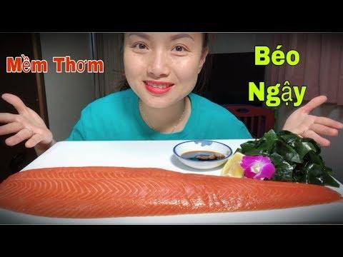 🇯🇵Ăn Nguyên Tảng Cá Hồi Sống Chấm Sốt Tương Wasabi Ngon Hết Bài #197