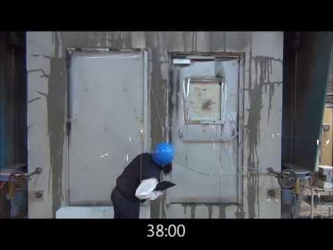 Porte blind e 2 vantaux essai de r sistance au feu youtube for Porte 3 vantaux