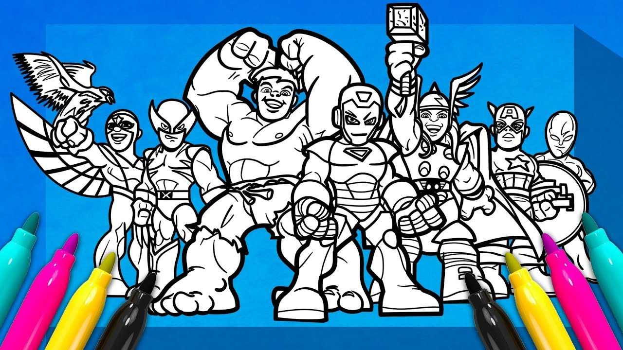 SUPER HERO SQUAD SHOW Coloring