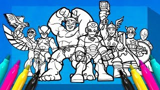 SUPER HERO SQUAD SHOW Coloring SET | Avengers Coloring Page