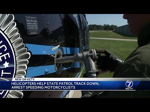 Helicopters help Nebraska State Patrol track down, arrest speeding motorcyclists