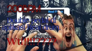 How to play double pedal 200BPM on REAL DRUM