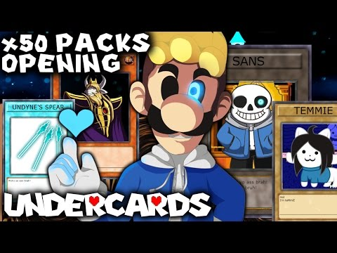 WE GOT SANS! INSANE UNDERCARDS 50x PACK OPENING [UNDERTALE CARD GAME PACK OPENING] | Luigikid Gaming