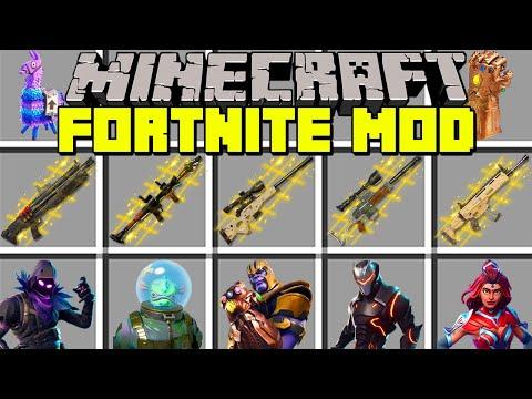 Minecraft FORTNITE MOD l THANOS, NEW WEAPONS, SKINS & SEASON 4 l Modded Mini-Game (Education)