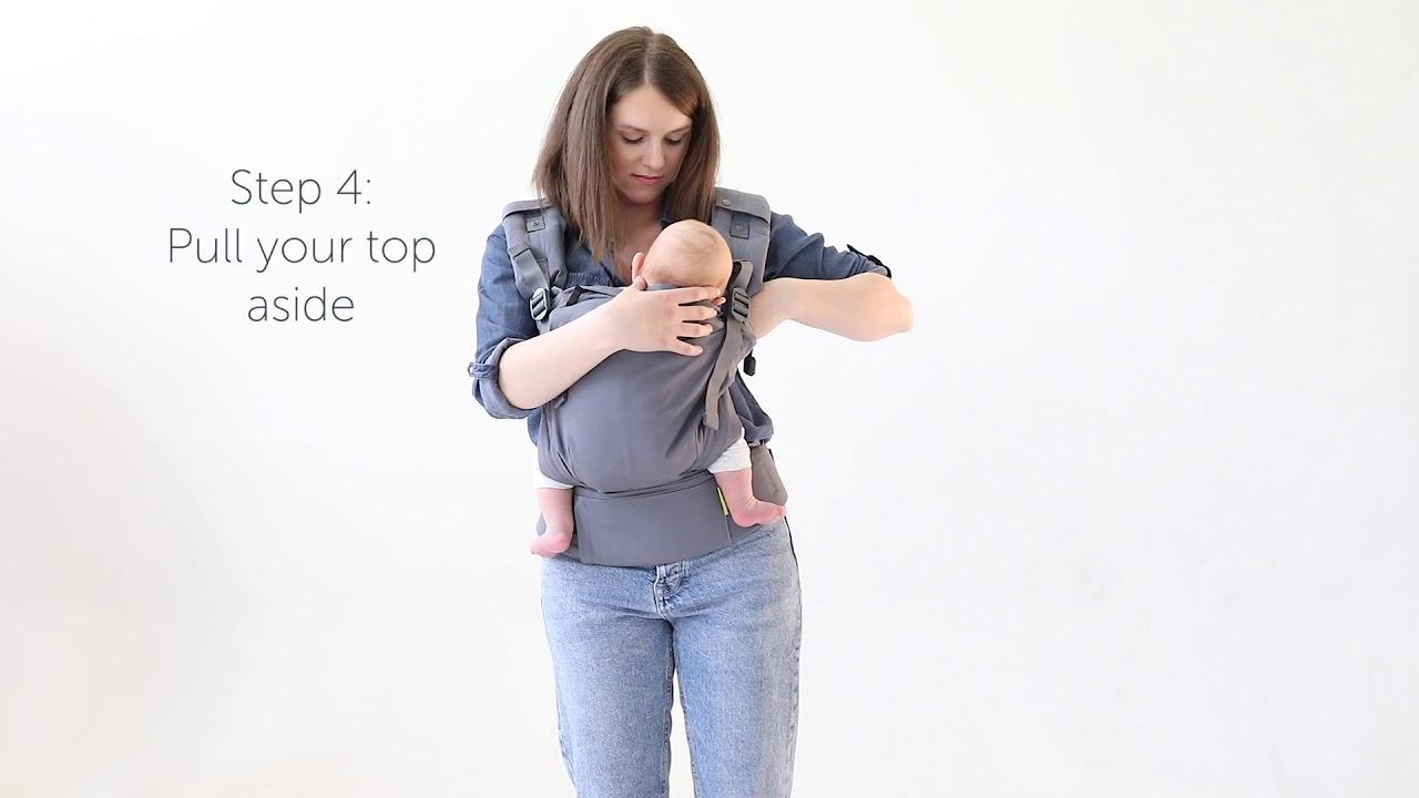 8e9aa441f8e Boba X - Allaiter dans le porte-bébé - YouTube