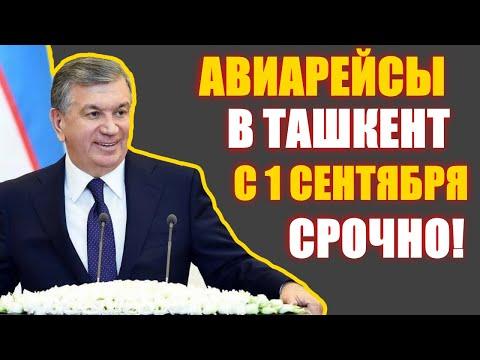 СРОЧНО! Авиарейсы Международные с 1 сентября  Узбекские Авиалинии